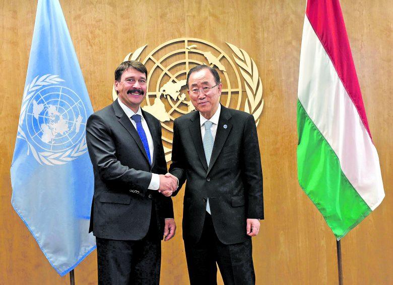 A megállapodás aláírását sürgeti az államfő és Ban Ki Mun