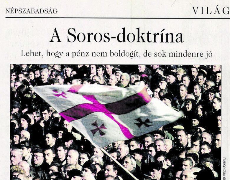 A tavaly megszűnt napilap 2003-ban arról is írt: a tőzsdespekuláns állt a grúz és a szerb fordulat mögött