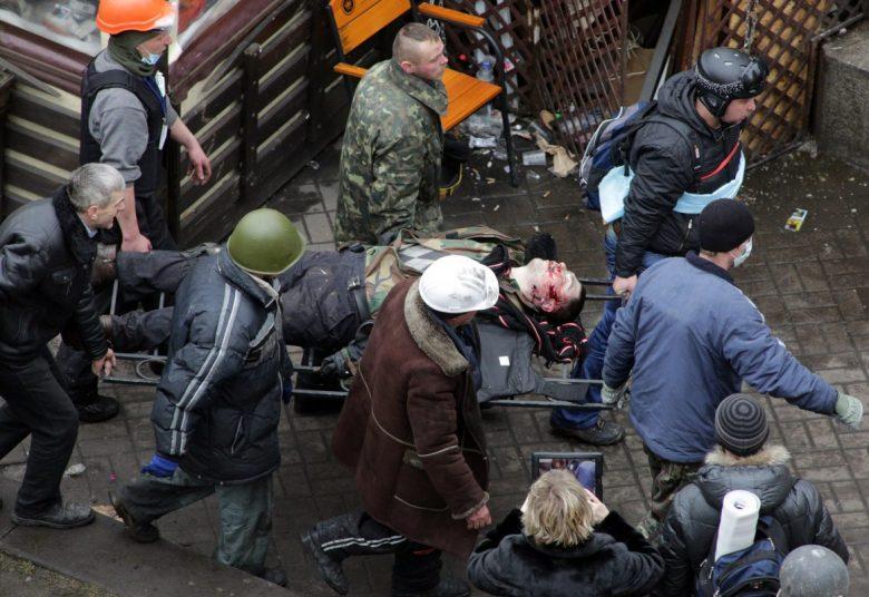 Kijev, 2014. február: a spekuláns hálózatának semmi sem volt drága, hogy elérjék céljukat