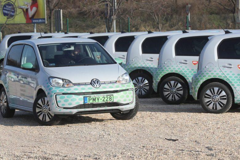 Percdíjas alapon bérelhető VW gépkocsik, egy részük elektromos hajtású