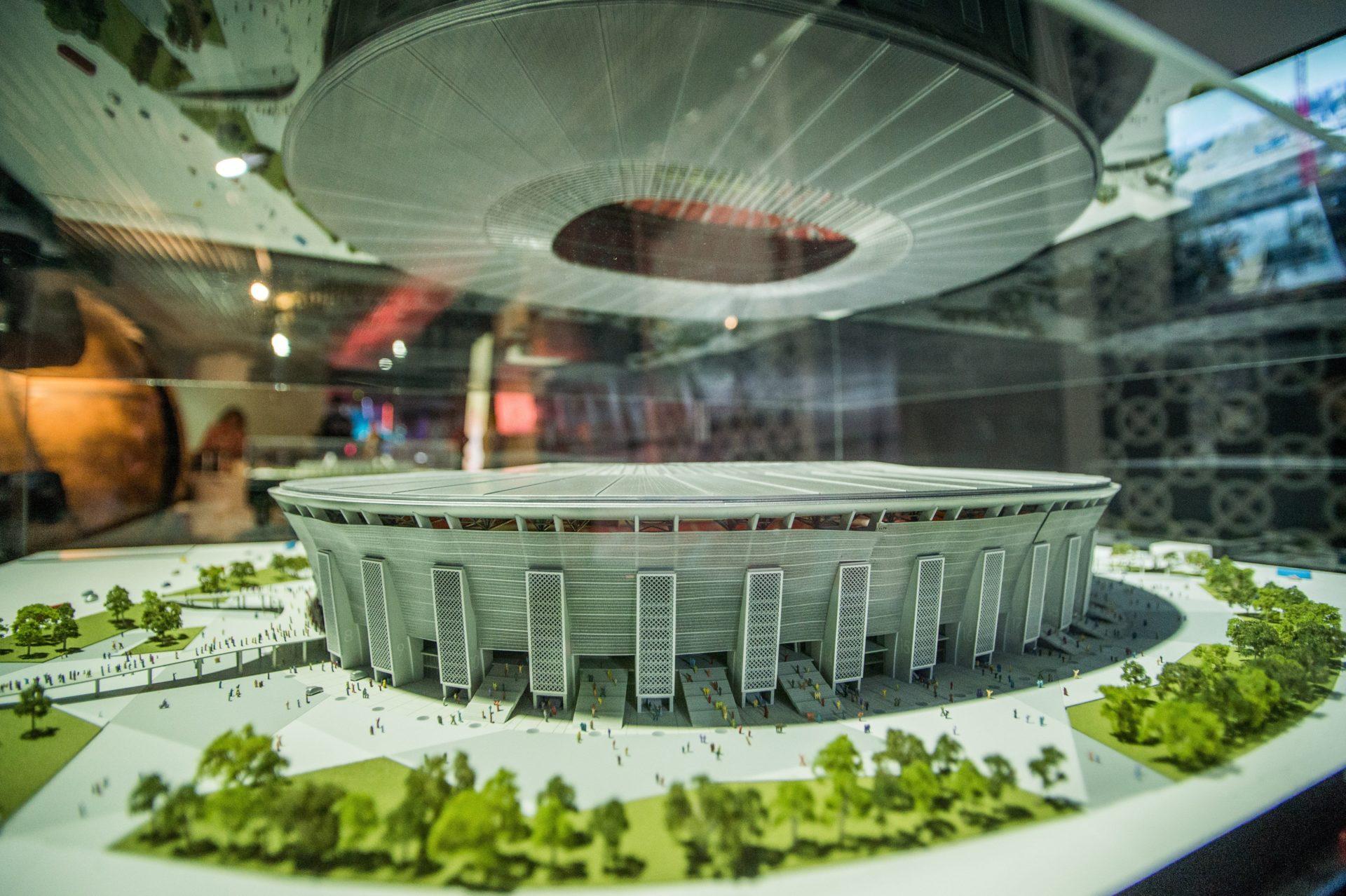 Az egykori Népstadion látványelemeit is megtartják az új aréna építői.  Fotó  MTI Balogh Zoltán 20deb8a9a3